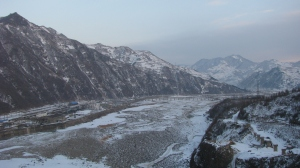 The Yalu River in winter